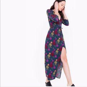 NWT American Apparel Crepe Julliard Wrap Dress